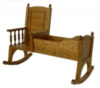 1-24th Scale Mahogany Rocking Cradle Chair Kit