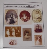 1-24th Scale Set of Vintage Photographs to Frame