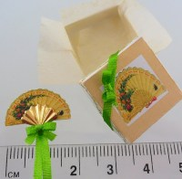 1-24th scale Boxed Fan Kit pretty 1-24th scale dollhouse miniature b