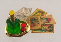 1-24th scale Tiny Perfume Tray and Love Letters Kit