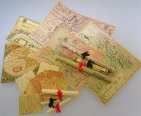 1-24th scale Vintage Maps and Scroll Kit