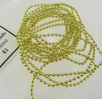 2mm Gold String Beads x 1m
