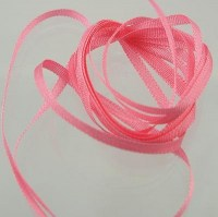 Pink Narrow Silk Ribbon